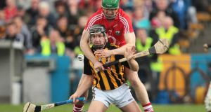 Cork's William Egan tackles Richie Hogan of Kilkenny during last year's final. Photograph: Inpho