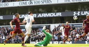 Tottenham Hotspur's Gareth Bale the third  at White Hart Lane. Photograph: John Walton/PA Wire.