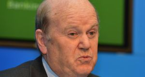 "Minister for Finance Michael Noonan: ""We have to get those savings"". Photograph: David Sleator/The Irish Times"