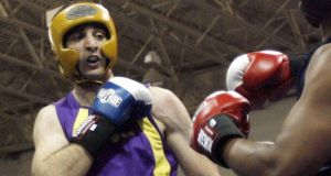 In this 2009 photo, Tamerlan Tsarnaev fights during the 2009 Golden Gloves National Boxing Tournament at the Salt Palace. Photograph: AP Photo
