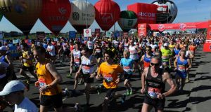 The start of yesterday's London Marathon. Photograph: Anthony Devlin/PA Wire