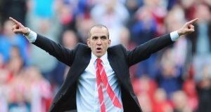 Paolo Di Canio celebrates victory with the crowd