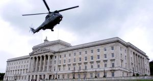 The Progressive Unionist Party put forward its vision for reconciliation amid ongoing political stalemate between the main parties at Stormont over a strategy to bring communities together. Photograph: Ferran Paredes/Reuters