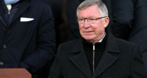 Manchester United manager Alex Ferguson is aiming for a record points haul. Photograph:  Dave Thompson/PA