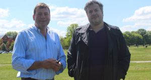Mark Reed (left), Oliver Reed's son, with Rob Crouch
