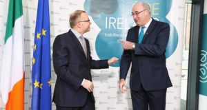 Thomas Chalupa, Minister for the Environment in the Czech Republic (left) with Phil Hogan, Irish Minister for the Environment, Community and Local Government during the informal meeting of Environment Ministers at Dublin Castle