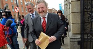 Minister for Health Dr James Reilly, at Leinster House, Dublin, today. Photograph: Eric Luke/The Irish Times