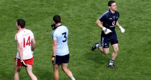 Stephen Cluxton in action for Dublin against Tyrone