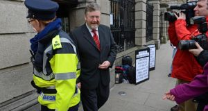 Minister for Health  James Reilly  at Leinster House, Dublin, yesterday. Photograph: Eric Luke
