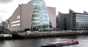 The Convention Centre Dublin:  a Boston real estate firm is in talks with Dublin Port on possible sites to locate a conference centre with a main space comprising 250,000sq ft and a potential capacity for up to 20,000 delegates.  Photograph: Matt Kavanagh