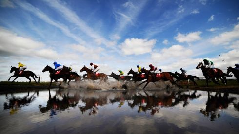 Action at 'Joe's Water Splash' at Punchestown Festival 2013 on opening day. Photograph: Alan Crowhurst/Getty Images