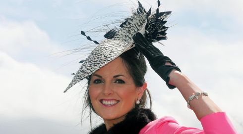 Emer Nash from Limerick on Punchestown opening day. Photograph: Lorraine O'Sullivan/Inpho