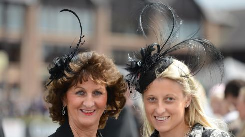Mary Musgrave with daughter Louise, from Castleknock, on opening day. Photograph: Dara Mac Dónaill/The Irish Times