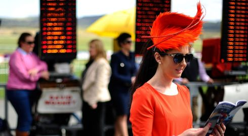 Ladies' fashion at Punchestown racecourse. Photograph: Alan Crowhurst/Getty Images