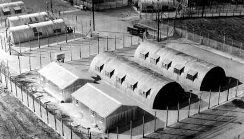 File picture from October 1971 of huts at the Maze, also known as Long Kesh. Photograph: PA Photo