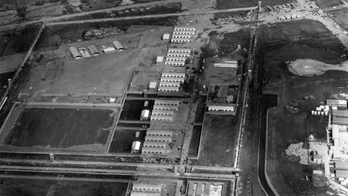 Construction of the Maze prison in the early 1970s. Photograph: Ciaran Donnelly/The Irish Times