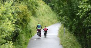 No frontiers: the Greenway near Westport, Co Mayo. Photograph: Dara Mac Dónaill