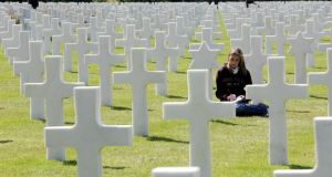 World War Two graves in Normandy, France. Photograph: Eric Luke/The Irish Times