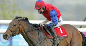 Ruby Walsh steers Quevega to victory in the Ladbrokes.com World Series Hurdle. Photograph: Morgan Treacy/Inpho