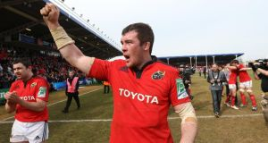Peter O'Mahony after the Heineken Cup quarter-final win over Harlequins. Photograph: Billy Stickland/Inpho