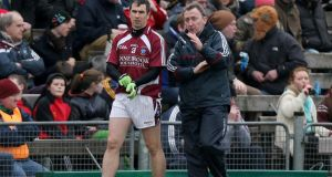 Along with his enduring ability veteran forward Dessie Dolan (left) brings a wealth of experience to the Westmeath, efforts, which manager Pat Flanagan (right) values. photograph: james crombie/inpho