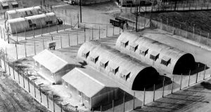 Huts at Long Kesh internment camp back in 1971.