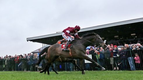 Davy Russell wins the Punchestown Gold Cup Steeplechase on Sir Des Champs. Photograph: Morgan Treacy/Inpho