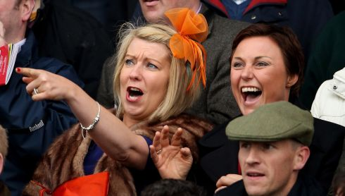 Feeling the passion: Racegoers in the stands. Photograph: Cathal Noonan/Inpho