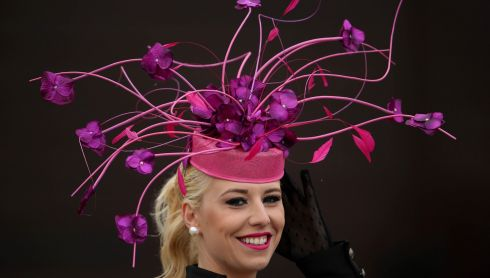 Dawn Leadon-Bolger from Baltinglass, Co Wicklow, at Punchestown. Photograph: Cathal Noonan/Inpho