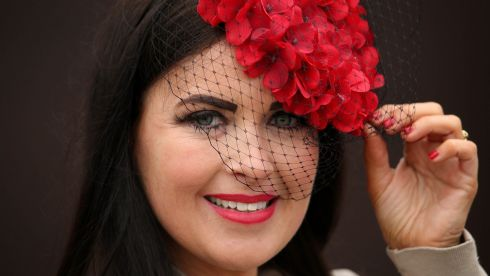 Carla Heathcote from Balbriggan, Co Dublin, at the races. Photograph: Cathal Noonan/Inpho