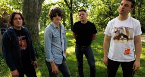 Members of the Arctic Monkeys (L-R) Jamie Cook, Alex Turner, Nick O'Malley and Matt Helders pose for a portrait in New York's Central Park om 2011. Photograph: Reuters/Jessica Rinaldi