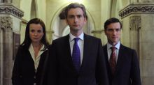 Hair today: Emily Watson, David Tennant and Ed Stoppard in The Politician's Husband