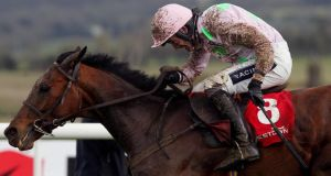 Marito ridden by Ruby Walsh was second to Rye Martini in The Stephens Green Hibernian Club Hurdle during Ladbrokes.com World Series Hurdle Day at the 2013 Festival at Punchestown. Photograph: Niall Carson/PA Wire