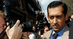 Trainer Mahmood Al Zarooni arrives for a Disciplinary Panel Hearing at the British Horse Racing Authority in London. Photograph: Luke MacGregor/Reuters