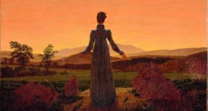A detail from  Caspar David Friedrich's Friedrich's Woman in the Morning Sun. Photograph courtesy of the Louvre