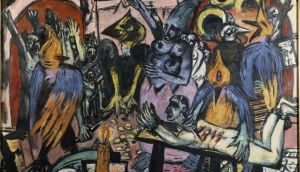 Above, a detail from Max Beckmann's The Hell of Birds. Photograph courtesy of the Louvre