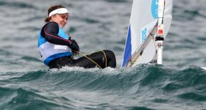 Annalise Murphy: Two days of light winds in Hyeres exposed weaknesses in her sailing. Photograph: WIlliam West/AFP/GettyImages.