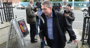 Eoin Ronayne, General  Seceretary of the CPSU arriving for talks with other public sector unions this month.   Photograp: Dara Mac Donaill / THE IRISH TIMES