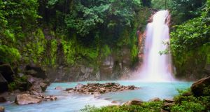 The Celeste Waterfalls in Costa Rica (Catarata Celeste). Photograph: Getty