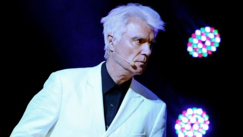 David Byrne performing last year at the Greek Theatre in Los Angeles, California. He's performing at Electric Picnic 2013 with St Vincent. Photograph: Kevin Winter/Getty Images