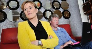 Always on: Deirdre Waldron and Greg Canty, who run Fuzion PR in Cork. Photograph: Daragh Mc Sweeney/Provision