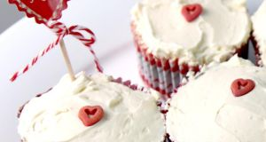 Aoife Ryan's red velvet cupcakes with Swiss meringue buttercream icing