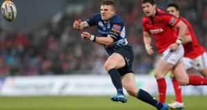Ian Madigan will start at inside centre for Leinster against Biarritz. Photograph: James Crombie/Inpho