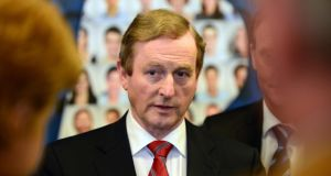 "Taoiseach Enda Kenny: said the Government's job creation measures were beginning to have a ""real impact"" with the creation of 1,000 new private sector jobs a month. Photograph: Alan Betson"