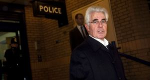 Publicist Max Clifford makes a statement to media after being arrested by Operation Yewtree officers on December 6th, 2012 in London. Photograph: Warrick Page/Getty Images