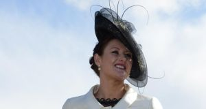 Niamh Rothwell from Tinahely, Co Wicklow, judged best-dressed lady at Punchestown races yesterday. Photograph: Cyril Byrne