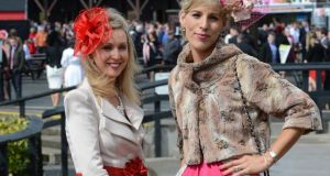Siobhan Walsh and Niamh O'Doherty, from Limerick, at Punchestown races yesterday. Photograph: Cyril Byrne
