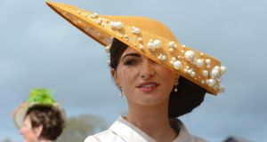 Maria Osbourne, from Kildare, pictured at Punchestown races yesterday. Photograph: Cyril Byrne