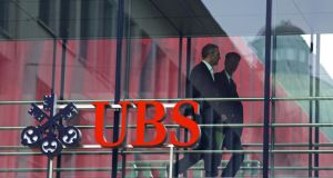 UBS, Switzerland's biggest bank, reported first-quarter earnings that beat analyst estimates. Photo: Bloomberg
