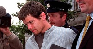 Christopher Doyle being taken from Kilmainham Court in 2000 after being charged with the robbery of two elderly bachelor farmers from Castlejordan Co Meath. Photograph: David Sleator/The Irish Times
